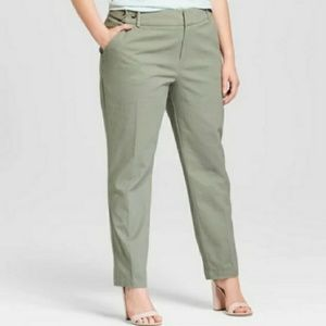 Ava & Viv Ankle Pants Womens Plus Size Stretch